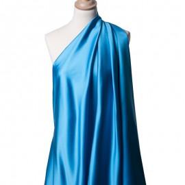 Tissu Satin Duchesse Acétate Bleu Lagon x10cm