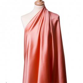 Tissu Satin Duchesse Saumon x10cm