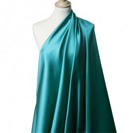 Tissu Satin Duchesse Turquoise x10cm
