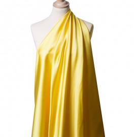 Tissu Satin Duchesse Jaune x10cm