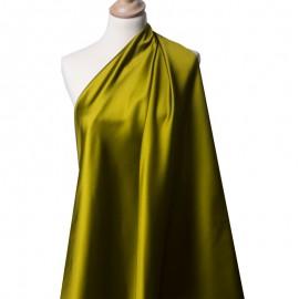 Tissu Satin Duchesse Vert Bronze x10cm