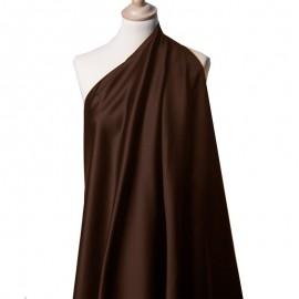 Tissu Satin Duchesse marron x10cm