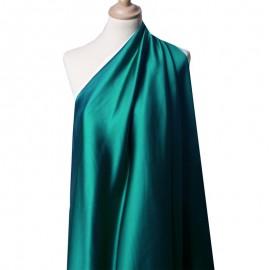 Tissu Satin Duchesse bleu canard x10cm