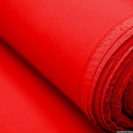 Crêpe Cady 100% soie rouge
