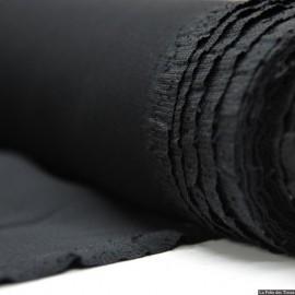 Crêpe Cady 100% soie noir x10cm