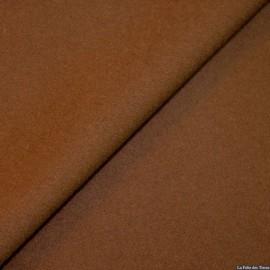 Tissu 100% cachemire marron x10cm