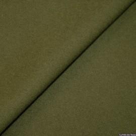 Tissu 100% cachemire kaki x10cm
