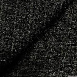 Tweed de laine noir fin X10CM