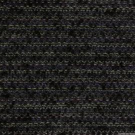 Tweed de laine noir fils colorés X10CM