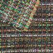 Tweed de laine dans les tons orange et vert X10CM