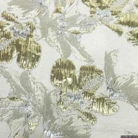 Brocart fleurs lys doré X10CM