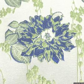 Brocart fleurs noir X10CM