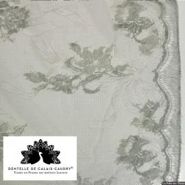 Tissu Dentelle de calais® silex motif arabesque x10cm