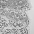 Tissu Dentelle de calais grège lamé argent bucolique x10cm
