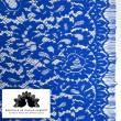 Tissu Dentelle de calais® bleu royal x10cm