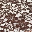 Tissu Dentelle de calais® marron x10cm