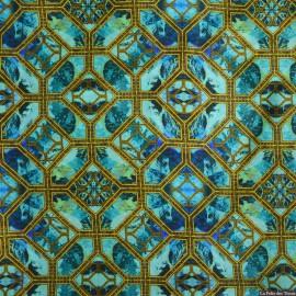Tissu Satin de soie imprimé Detroit x10cm