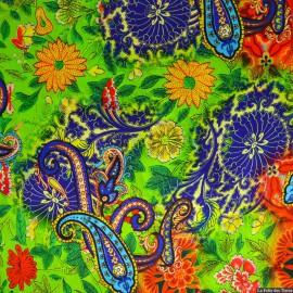 Tissu Satin de soie imprimé Rio de Janeiro x10cm